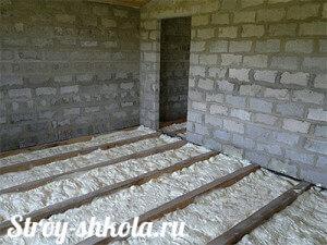 Утепление бетонного пола напыляемыми материалами