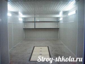 Внутренняя отделка гаража из металлопрофиля