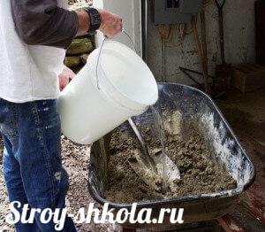 Вода необходимый компонент для бетона