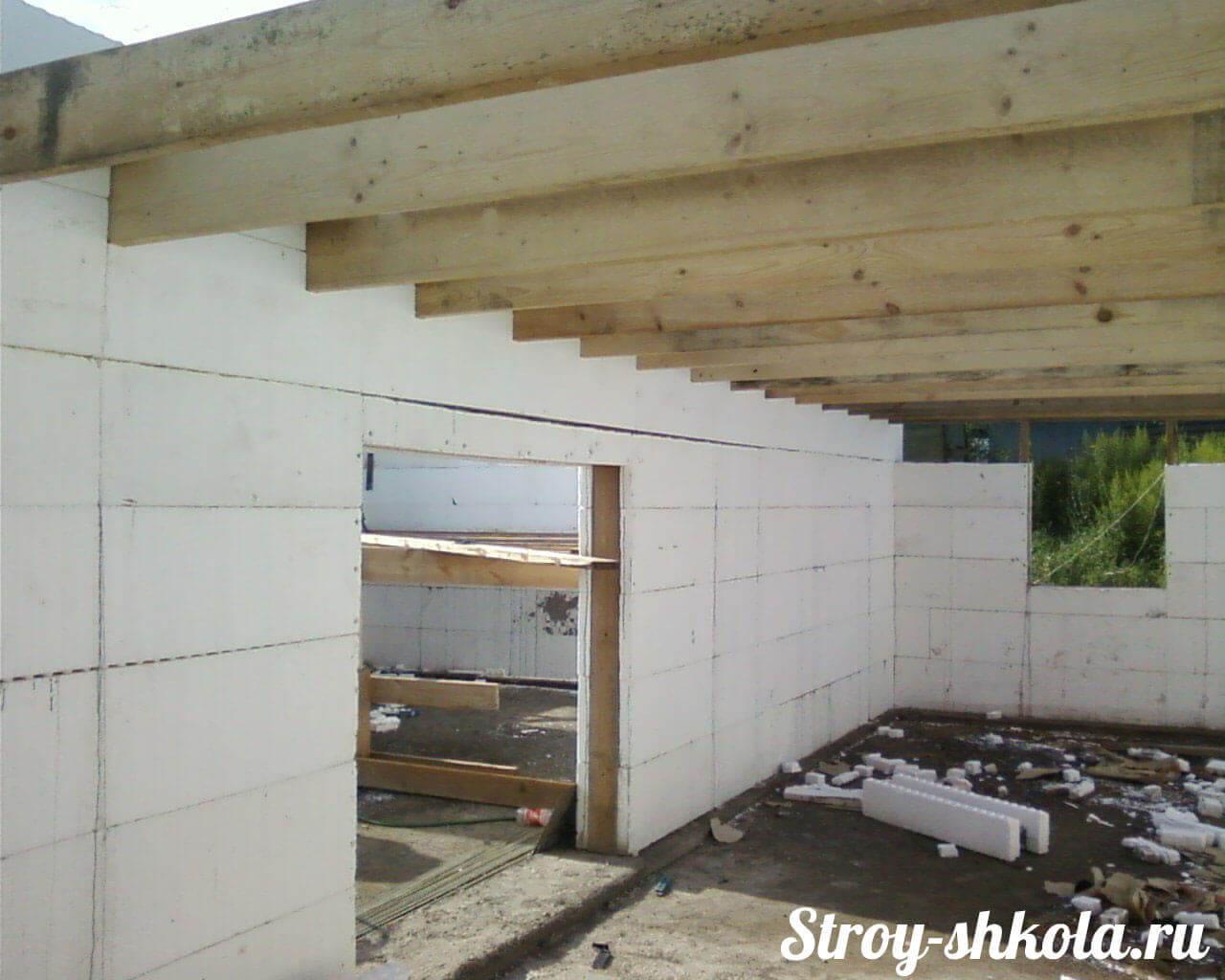 деревянные перекрытия в частном доме схема