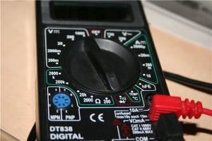 Мультиметр для прозвонки проводов