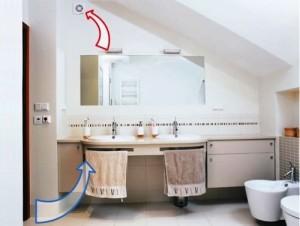 Образец вентиляции в ванной