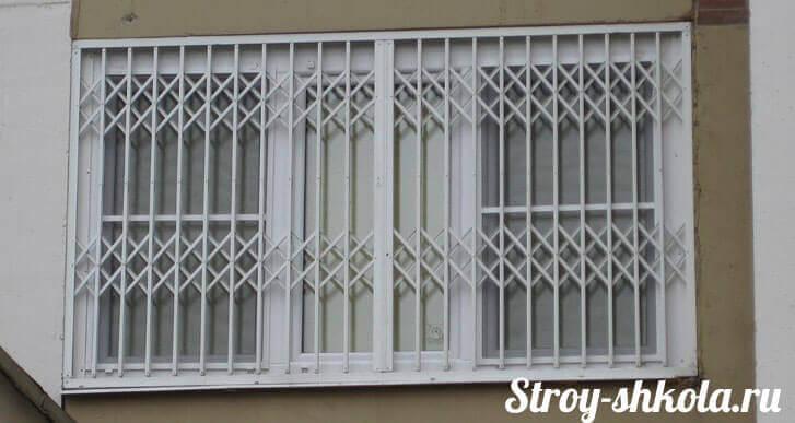 Решетка раздвижная на окно своими руками