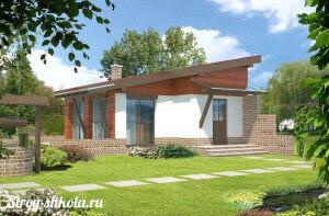 Образец создания односкатной крыши для дома