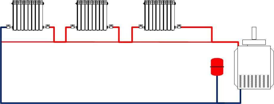 Схема отопления - Ленинрадка