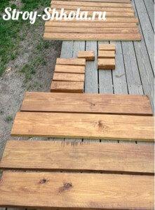 Деревянные доски для изготовления каркаса песочницы