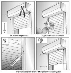 Герметизация отверстий и установка заглушек