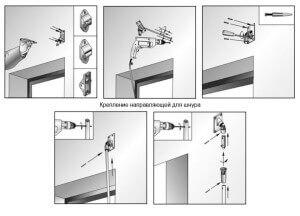 Крепление направляющих для шнура