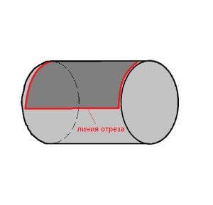 Линия отреза бочки для создания мангала