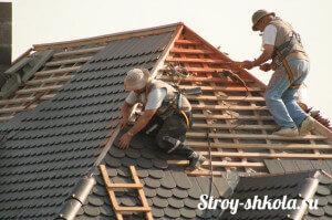Монтаж обрешетки на трехскатную крышу