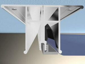 Установка багетов фиксирующих потолочное полотно