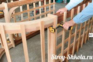 Каркас для садовой арки из дерева готов