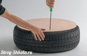 Крепим фанерный лист к шине