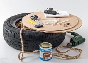 Необходимые инструменты для создания пуфика из шины