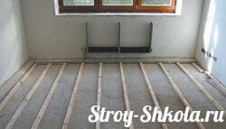 Устройство деревянного пола на бетоне