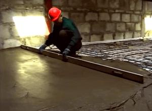 Делаем бетонную стяжку - фото