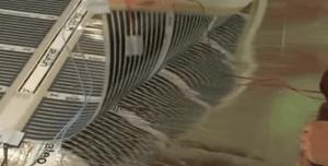 Делаем вырез в теплоизоляционном материале