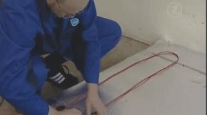 Фиксация нагревающего кабеля