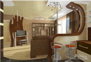 Использование перегородки для разделения комнаты