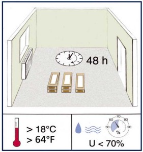 Ламинат должен отлежаться при комнатной температуре около суток