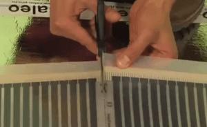 Обратите внимание как правильно обрезать термопленку