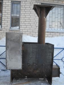 Печь с баком для воды
