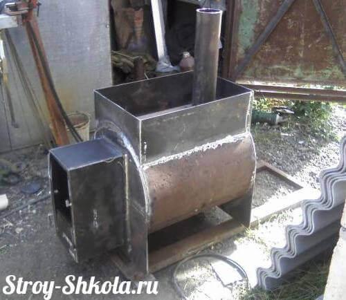 Печь для бани из трубы своими руками фото 284