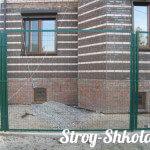 Секционный металлический забор из сварной сетки