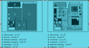 Схема перепланировки комнаты в две комнаты
