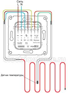 Схема подключения терморегулятора - фото