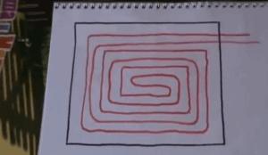 Схема укладки труб - Спираль