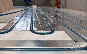 Специальные пенопластовые плиты для укладки труб теплого пола