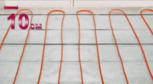 Укладка кабеля для электрического теплого пола