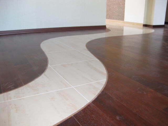 Фото оформление стыковки между плиткой и ламинатом