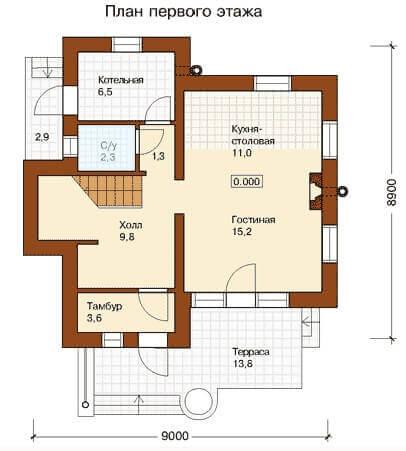 План проекта первого этажа