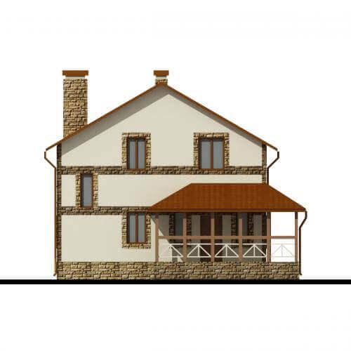 Проекты двухэтажных домов из пеноблоков