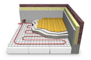 Схема работы водяного теплого пола под плитку