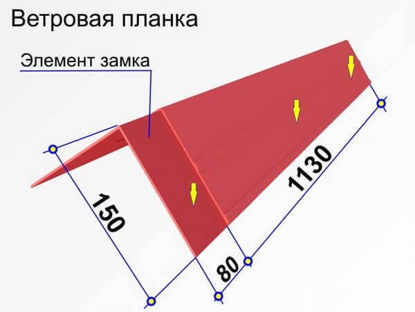 Ветровая планка - чертеж