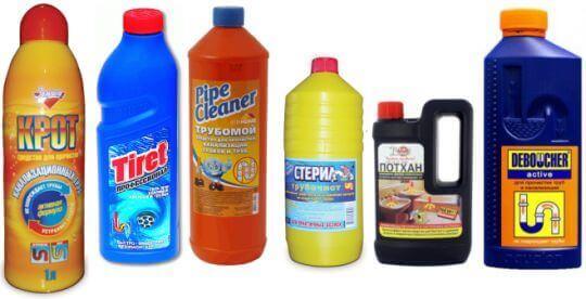 Химические средства для прочистки канализации от засора