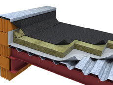 Составляющие элементы плоской крыши