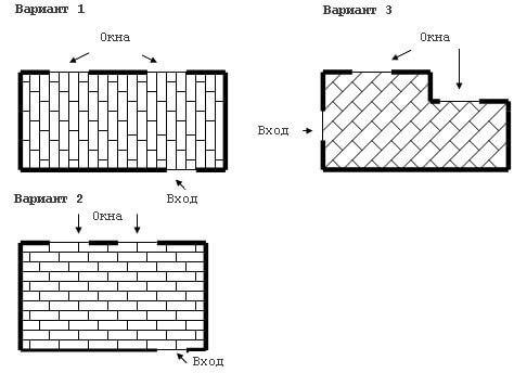 Различные варианты укладки ламината