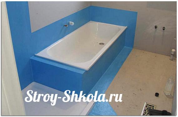 Устройство гидроизоляции пола в ванной