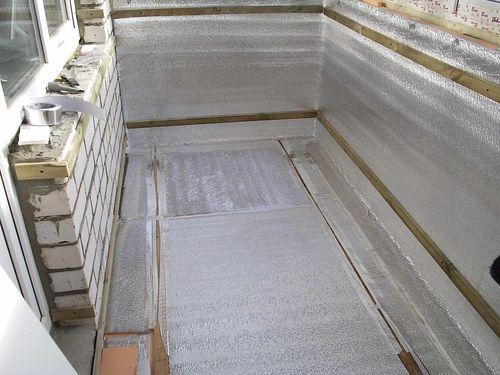 Подготовленная поверхность для заливки стяжки