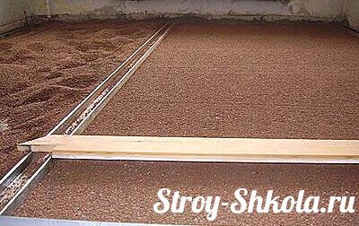 Рис.5  Выравнивание сухой стяжки правилом