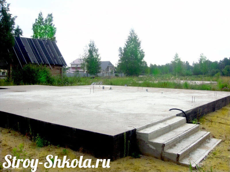 Фундамент дома своими руками плита 13
