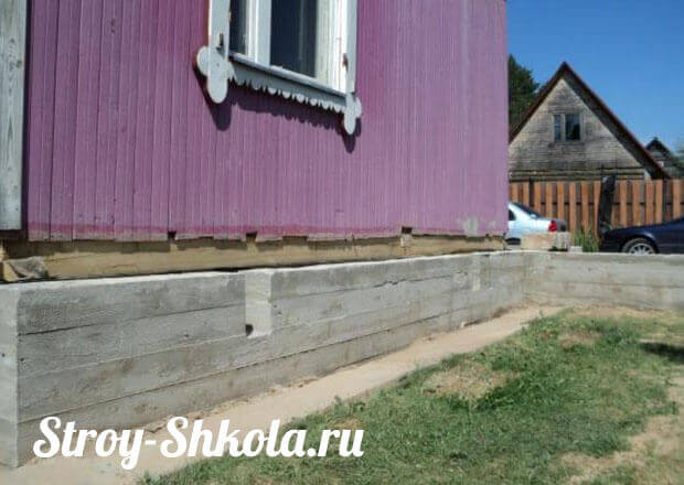 Как укрепить фундамент деревянного дома