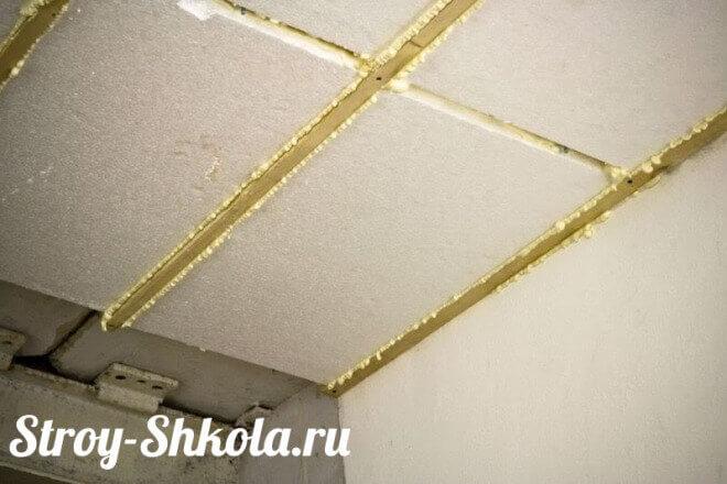 Утепление потолка гаража с помощью пенопласта