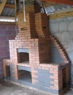 Примерный проект камина для террасы.
