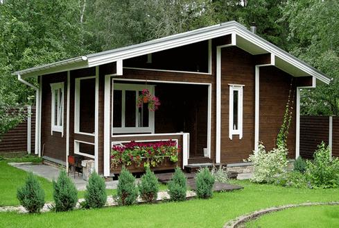 Проект оригинального капитального дачного домика.