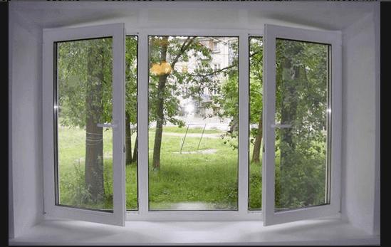 Обычное пластиковое окно с двумя створками